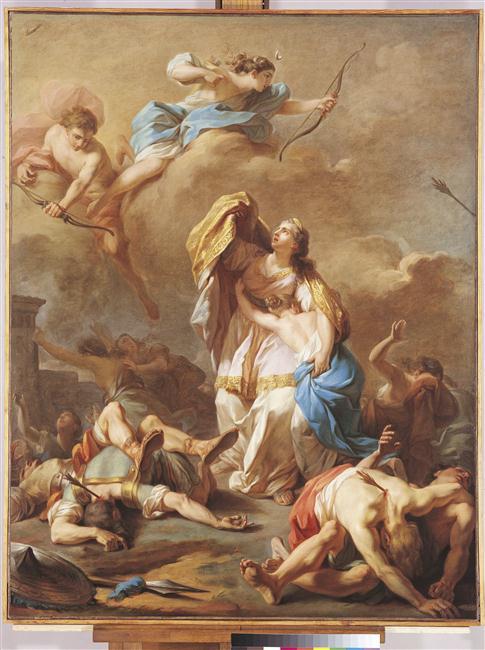 Les enfants de Niobé tués par Apollon et Diane_0