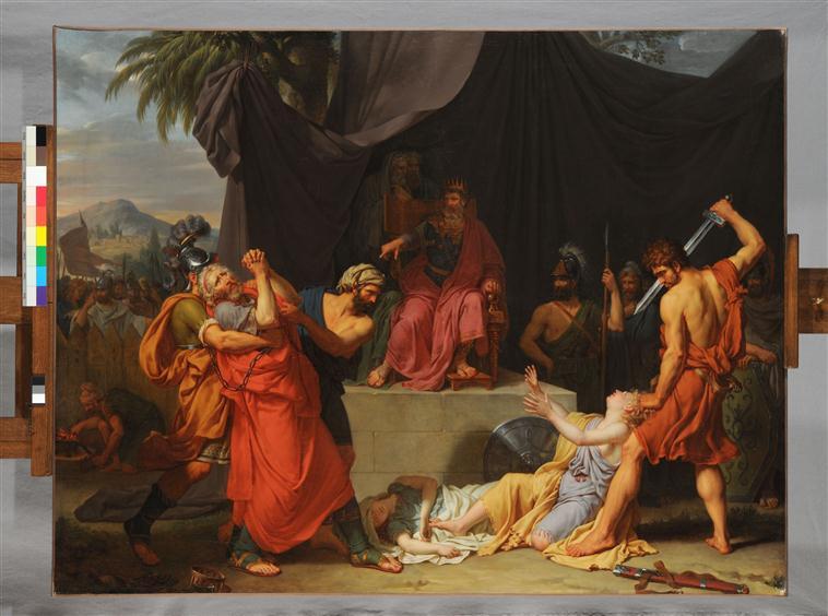 Nabuchodonosor fait tuer les enfants de Sédécias en présence de leur père_0