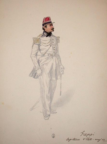 Filippi capitaine d'Etat-major ; Siège de Rome de 1849 (en 3 tomes)