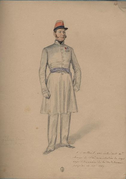 Dutheil, sous-intendant militaire ; Siège de Rome de 1849 (en 3 tomes)