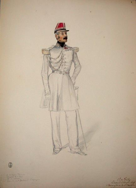 Tilly Lieutenant-colonel chef d'Etat-major de la 1ere division ; Siège de Rome de 1849 (en 3 tomes)