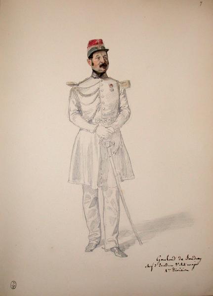 Gombau de Sandray, chef d'escadron d'Etat-major 1ere division ; Siège de Rome de 1849 (en 3 tomes)_0