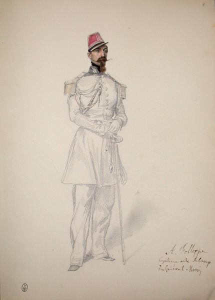 A. Follope capitaine aide de camp du général Morris ; Siège de Rome de 1849 (en 3 tomes)