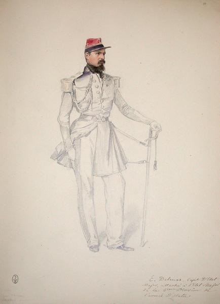 E. Delmas, capitaine d'Etat-major, attaché à l'Etat-major de la 2ème division de l'armée d'Italie ; Siège de Rome de 1849 (en 3 tomes)_0