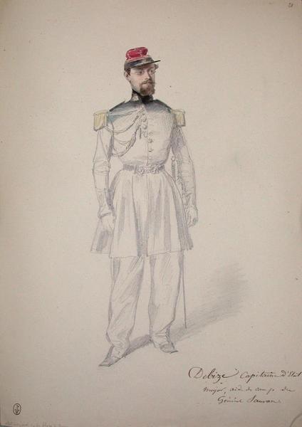 Debize, capitaine d'Etat-major, aide de camp du général Sauvan ; Siège de Rome de 1849 (en 3 tomes)