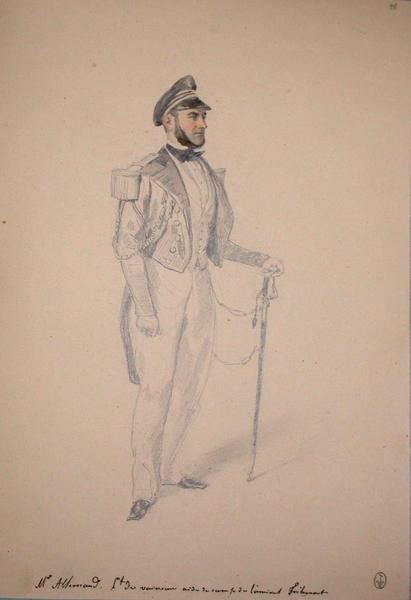 Mr Allemand lieutenant du vaisseau, aide de camp de l'amiral Tréhouart ; Siège de Rome de 1849 (en 3 tomes)_0