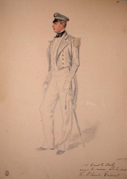 A. Thirat de Chailly, Enseigne de vaisseau, aide de camp de l'amiral Tréhouart ; Siège de Rome de 1849 (en 3 tomes)_0