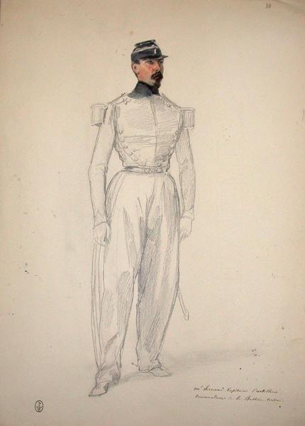 Mr Serrand, capitaine d'artillerie, commandant de la batterie Corsini ; Siège de Rome de 1849 (en 3 tomes)_0