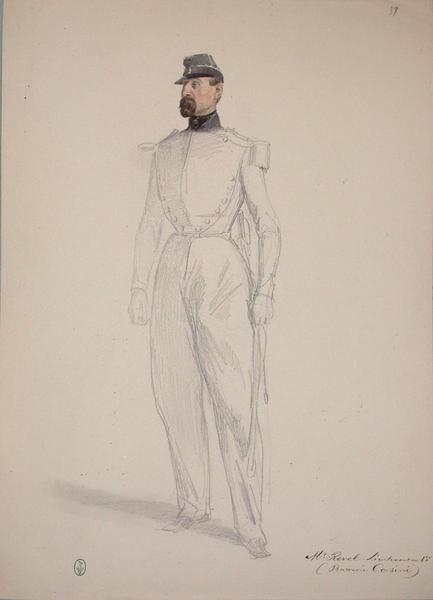 Mr Revel lieutenant en 1er (Batterie Corsini) ; Siège de Rome de 1849 (en 3 tomes)_0