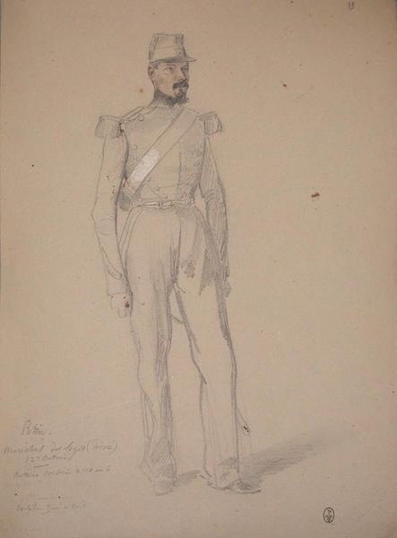 Potin, maréchal des logis (décoré), 1ère batterie, batterie Corsini ; Siège de Rome de 1849 (en 3 tomes)_0