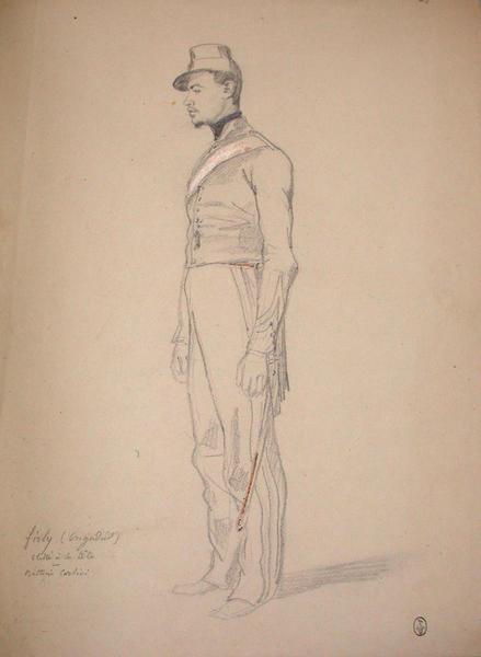 Firly (brigadier), blessé à la tête, Batterie Corsini ; Siège de Rome de 1849 (en 3 tomes)_0