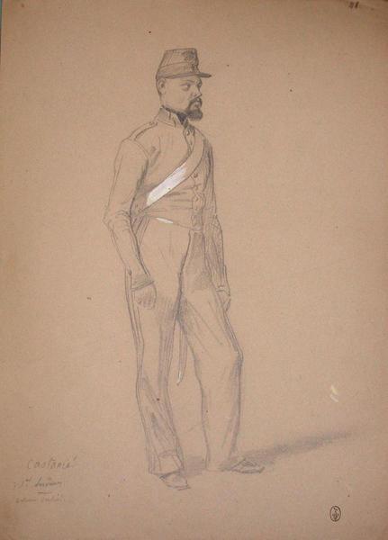 Castanié, 1er servant, batterie Corsini ; Siège de Rome de 1849 (en 3 tomes)_0