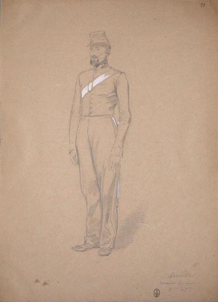 Haumsser (?) canonnier servant, 6eme du 7eme ; Siège de Rome de 1849 (en 3 tomes)_0