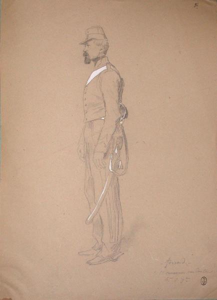 Ferrand, 1er canonnier conducteur, 6ème du 7ème ; Siège de Rome de 1849 (en 3 tomes)_0