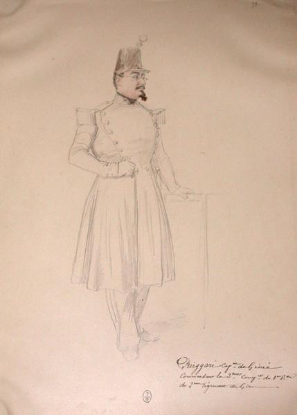 Puiggari, capitaine du Génie, commandant de la 3ème compagnie du 1er bataillon  du 2ème régiment du Génie ; Siège de Rome de 1849 (en 3 tomes)_0