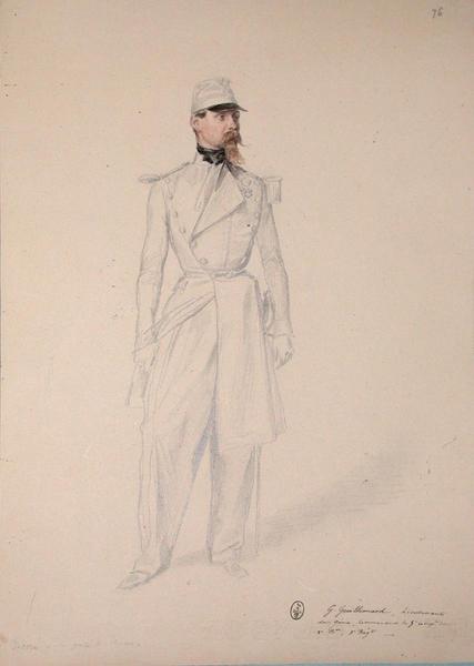 G. Guillemard, lieutenant du génie commandant de la 5ème compagnie du 2ème Bataillon du 1er régiment ; Siège de Rome de 1849 (en 3 tomes)