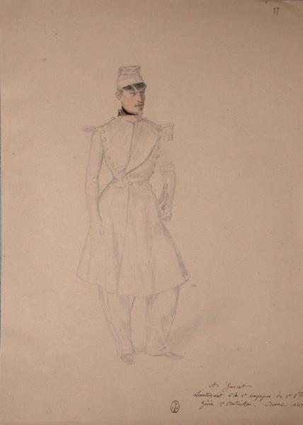 A. Garcet, lieutenant à la 5ème compagnie du 1er régiment du génie, 2ème bataillon. Rome 1849. ; Siège de Rome de 1849 (en 3 tomes)_0