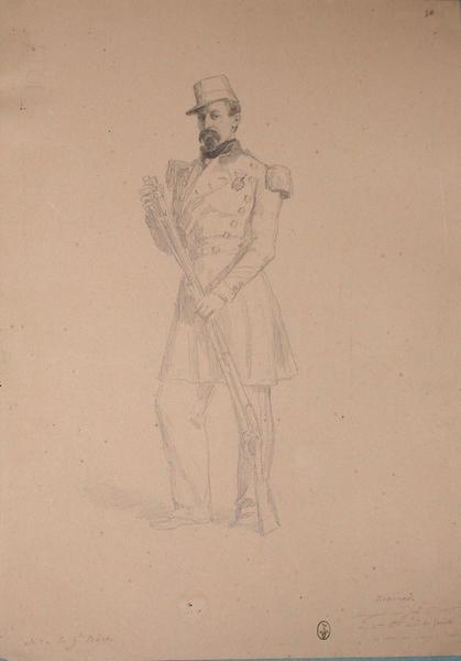 Kranner, sergent major, 5e compagnie du 2ème bataillon du régiment du génie, décoré au siège de Rome ; Siège de Rome de 1849 (en 3 tomes)_0