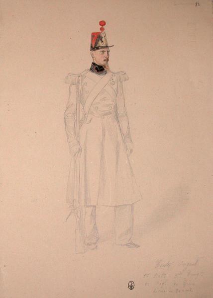 Conty sergent, premier bataillon, 3ème compagnie, 2ème régiment du génie, décoré le 30 avril. ; Siège de Rome de 1849 (en 3 tomes)_0