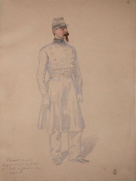 Auguste Parant, sergent de la 7ème, du 2ème bataillon, 2ème régiment du Génie (décoré). Bastion 6. ; Siège de Rome de 1849 (en 3 tomes)