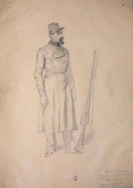 Gaston Pascal, sergent de la 7ème du 2ème bataillon du 2ème régiment du Génie, bastion 8. ; Siège de Rome de 1849 (en 3 tomes)