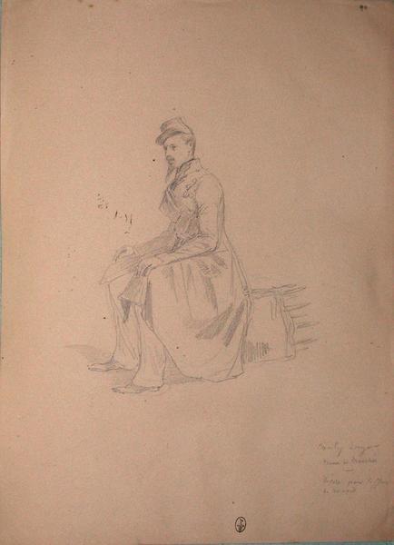 Conty, sergent en tenue de tranchée, décoré le 30 avril ; Siège de Rome de 1849 (en 3 tomes)_0
