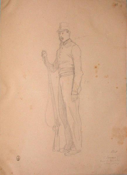 Strit, 1er servant dans la tranchée, sape pleine ; Siège de Rome de 1849 (en 3 tomes)_0