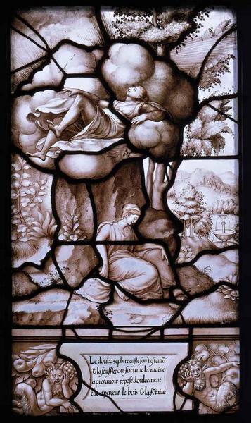 Histoire de Psyché (07) : Psyché déposée sur la montagne et le vent Zéphyr