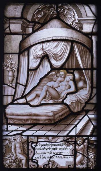 Histoire de Psyché (42) : Psyché et Cupidon sur leur couche nuptiale_0