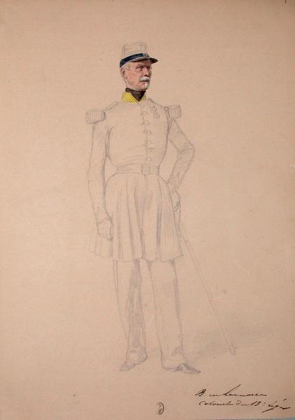 Bougourd de Lamarre, colonel du 13e Léger ; Siège de Rome de 1849 (en 3 tomes)_0