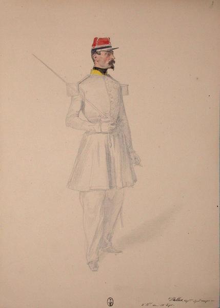 Vallet, capitaine adjudant major, 2e bataillon du 13e Léger ; Siège de Rome de 1849 (en 3 tomes)