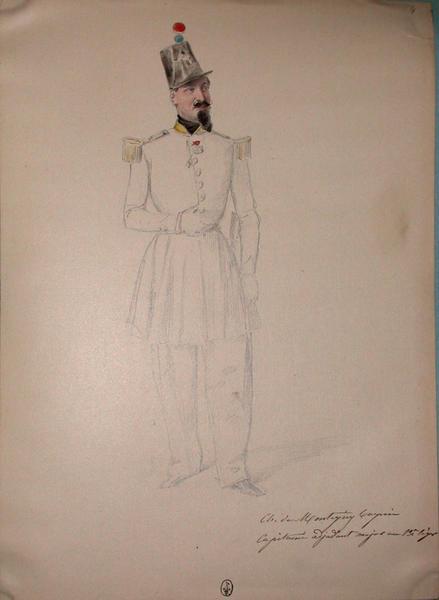Ch. de Montigny Turpin, Capitaine adjudant major au 13e Léger ; Siège de Rome de 1849 (en 3 tomes)_0