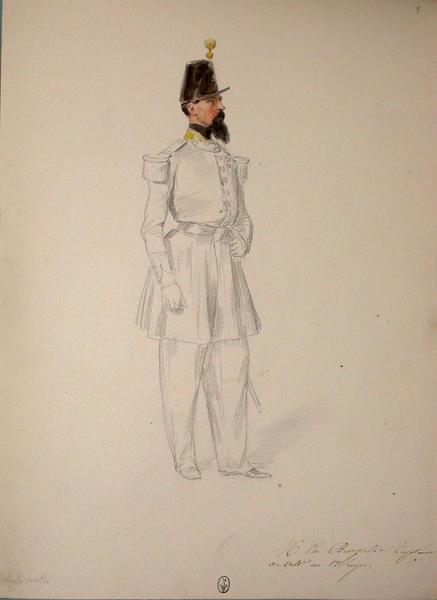 M. Ch. de Burgalat, capitaine de voltigeurs au 13e Léger ; Siège de Rome de 1849 (en 3 tomes)_0