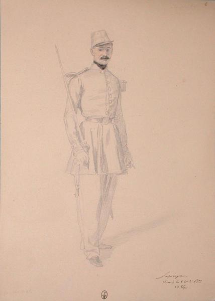 Lapidagne, lieutenant à la 1ère compagnie du 2ème bataillon du 13e Léger ; Siège de Rome de 1849 (en 3 tomes)_0