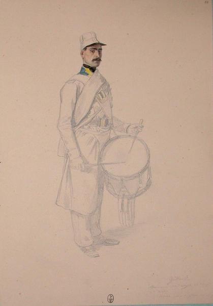 Gillard, tambour du 13e Léger, 1ère compagnie, 2e bataillon ; Siège de Rome de 1849 (en 3 tomes)_0