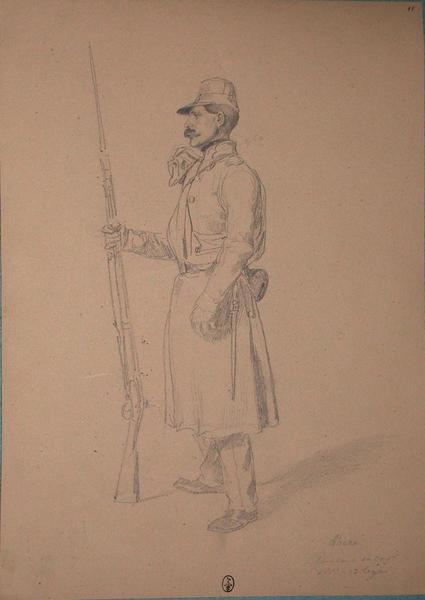 Thane, chasseur, 1ère compagnie, 2ème bataillon 13e Léger ; Siège de Rome de 1849 (en 3 tomes)_0