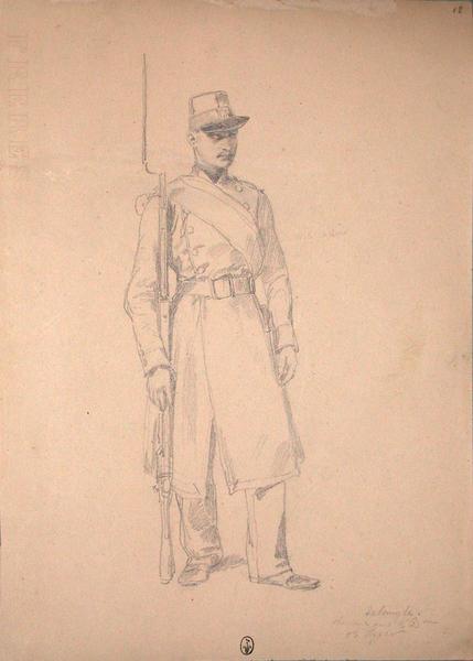 Delangle, chasseur, 1ère compagnie du 2e bataillon du 13e Léger ; Siège de Rome de 1849 (en 3 tomes)_0