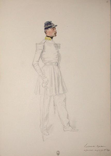 Lecomte, capitaine adjudant-major au 22e Léger ; Siège de Rome de 1849 (en 3 tomes)_0
