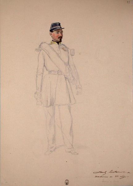 Borel lieutenant des cantiniers au 22e Léger ; Siège de Rome de 1849 (en 3 tomes)_0