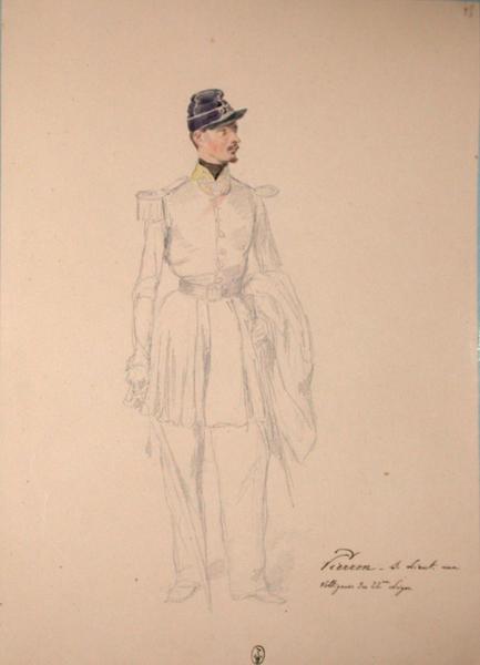 Pierron, sous-lieutenant aux voltigeurs du 22e Léger ; Siège de Rome de 1849 (en 3 tomes)_0