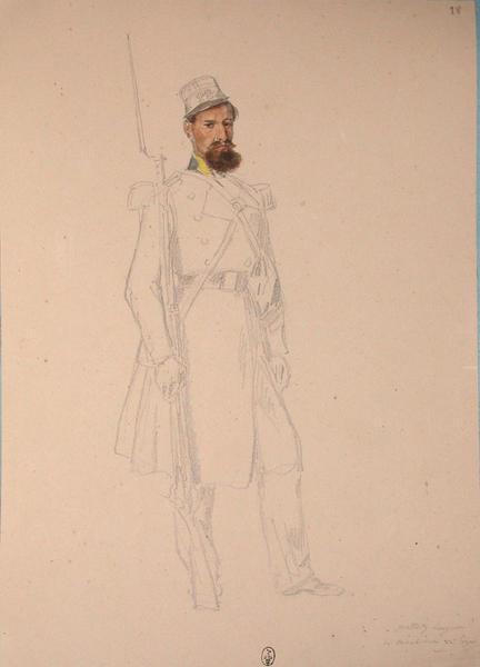 Mottez, sergent des carabiniers, 22e Léger ; Siège de Rome de 1849 (en 3 tomes)