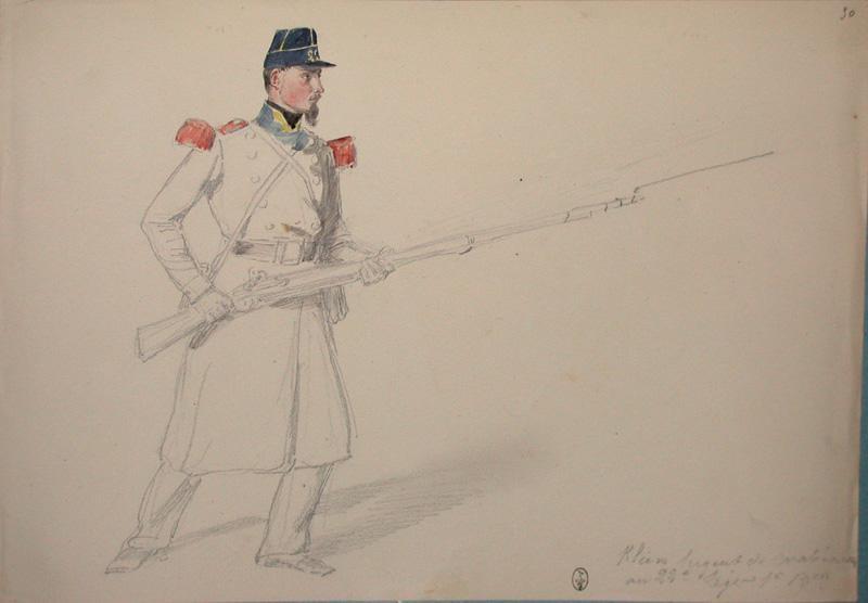 Klein, sergent des carabiniers, 22e Léger, 1er bataillon ; Siège de Rome de 1849 (en 3 tomes)