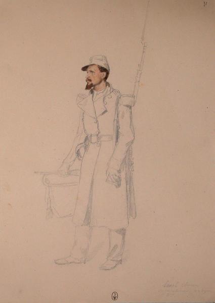 Lunel, clairon des carabiniers, 22e Léger, 1er bataillon ; Siège de Rome de 1849 (en 3 tomes)_0