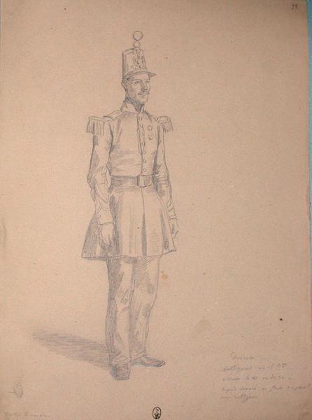 Dicrest, voltigeur au 1er bataillon, assauts du 21 ou du 30, depuis décoré et fait caporal aux voltigeurs ; Siège de Rome de 1849 (en 3 tomes)_0
