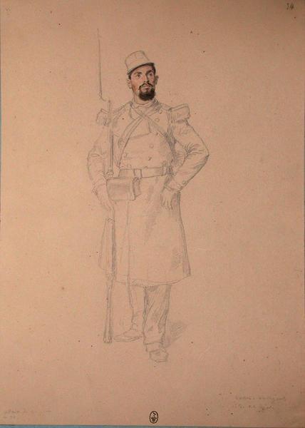 Veau, voltigeur, 1et bataillon, 22e Léger ; Siège de Rome de 1849 (en 3 tomes)_0