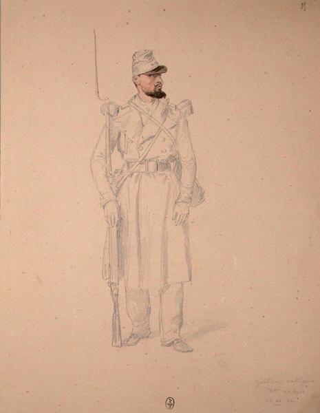 Guillon, voltigeur 1er bataillon, 22e Léger ; Siège de Rome de 1849 (en 3 tomes)