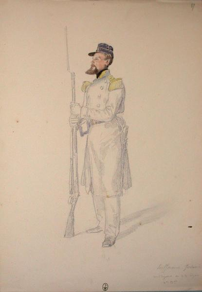 Hoffman Frédéric, voltigeur au 22e Léger, 2e bataillon ; Siège de Rome de 1849 (en 3 tomes)