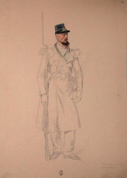 Voullens, carabinier, 22e Léger, 1er bataillon ; Siège de Rome de 1849 (en 3 tomes)_0
