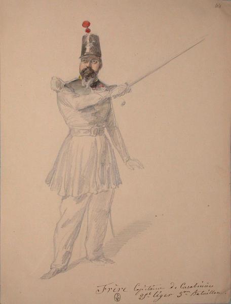 Frere, capitaine des carabiniers, 25e Léger, 3e bataillon ; Siège de Rome de 1849 (en 3 tomes)_0