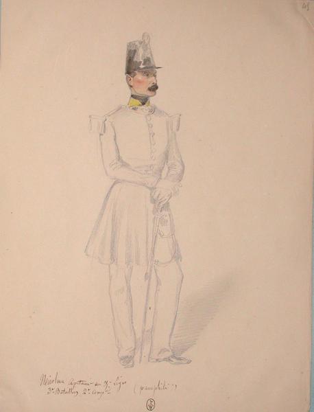 Nicoleau, capitaine des carabiniers, 25e Léger, 3e bataillon ; Siège de Rome de 1849 (en 3 tomes)_0